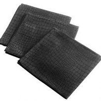 Marque Generique - Lot de 3 serviettes Serpentile Noir
