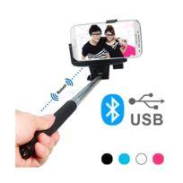 Totalcadeau - Perche Selfie Bluetooth avec bras extensible Couleur - Rose