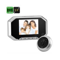 Auto-hightech - Interphone Sonnette vidéo 720P - Cmos de 1/4 pouce, Pir, lentille de 160 degrés, vision nocturne, écran 3,5 pouces