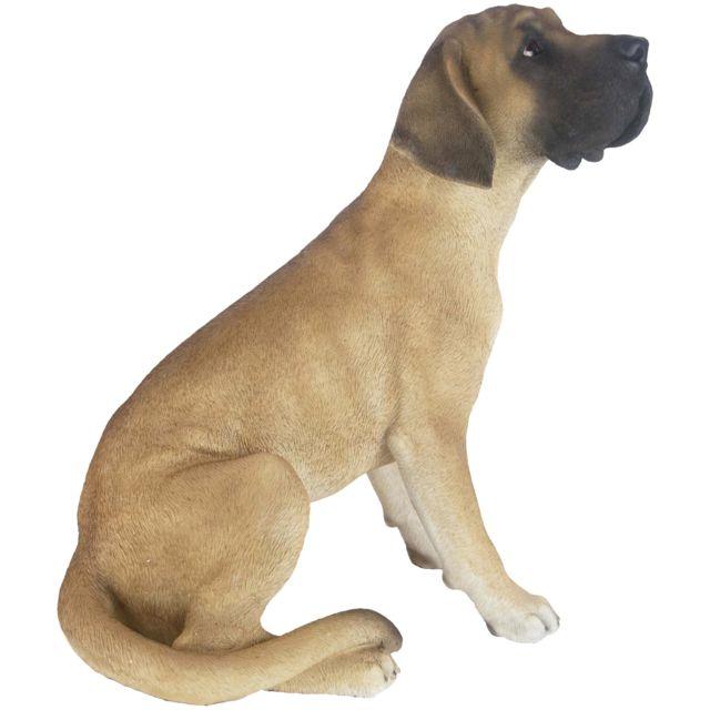 ESSCHERT DESIGN Dogue allemand assis en résine 52 cm
