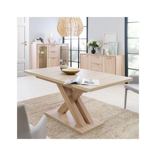 Table ALIX 1 allonge / Chêne Blanchi