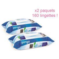 Pingo - Lingettes ecologiques x2 paquets 160 lingettes