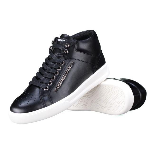 aa329656f352 Versace Jeans - Basket E0 Yqbsh4 899 Noir - pas cher Achat   Vente Baskets  homme - RueDuCommerce