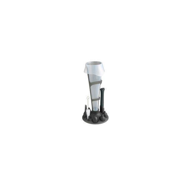 MASTRAD Set poche à douille - Poches 500 et 1000 ml + douilles et support - Noir