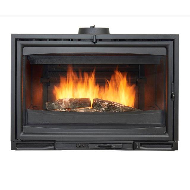 godin insert bois 12kw anthracite 660174 pas cher. Black Bedroom Furniture Sets. Home Design Ideas