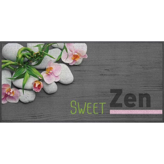 Linge Des Domes Cdaffaires tapis deco rectangle 57 x 115 cm imprime sweet zen
