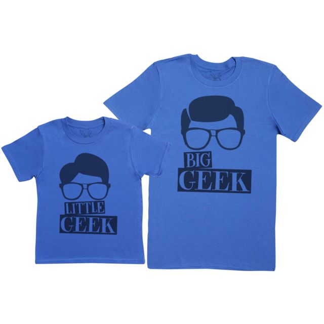 Zarlivia Clothing - Big Geek   Little Geek- Ensemble Père enfants Cadeau - Hommes  T f4c62a367df