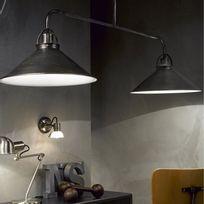 Lucide - Suspension barre 2 lumières en métal longueur 120cm Berkley - Noir