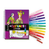 Sentosphère - Carnet de coloriage et feutres : Costumes