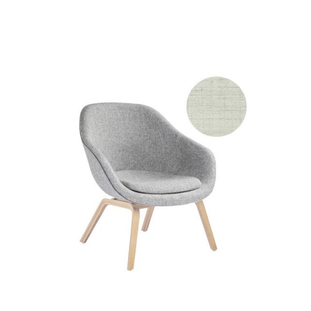 Hay About A Lounge Chair Low Aal 83 - Remix 113 - beige - chêne savonné