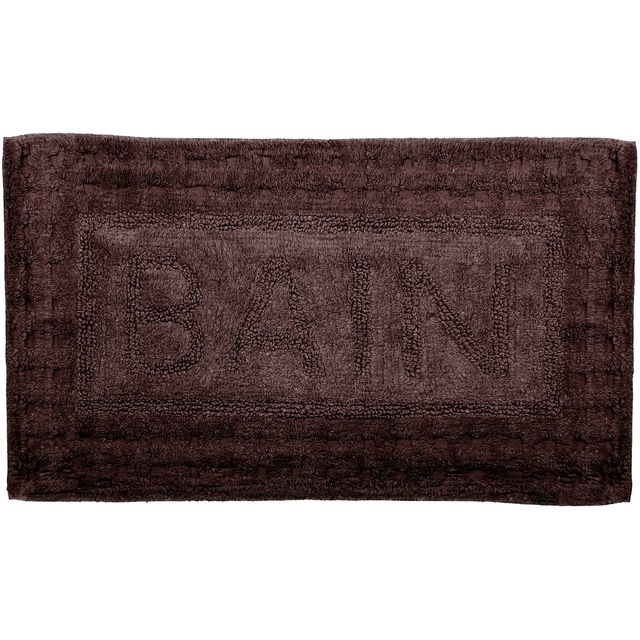 promobo grand tapis de salle de bain en coton inscription bain cosy 45x75cm weng vendu par. Black Bedroom Furniture Sets. Home Design Ideas