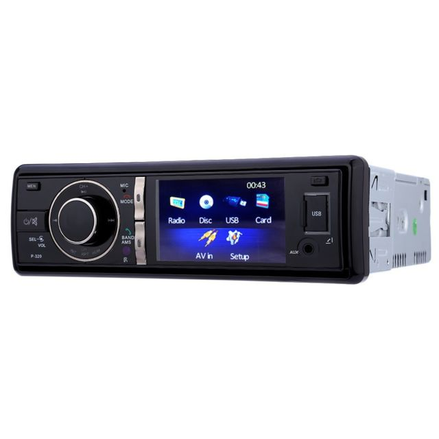Auto-hightech Autoradio Stéréo 3 pouces pour Voiture Audio avec Télécommande et Caméra - Noir
