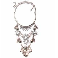 Collection Zanzybar - Collier baroque cascade avec strass et fleur en cristal Gypset