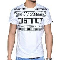 Distinct By Rohff - En Solde - Distinct - T Shirt Manches Courtes - Homme - Yass - Blanc