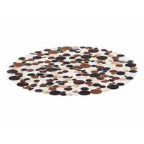 Beliani - Tapis - cuir brun - ø 140 cm - Sorgun