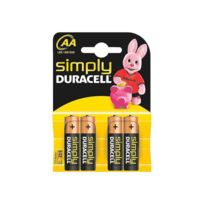 Absima - 4 Piles Alcalines Duracell Aa R06 pour Radios Rc