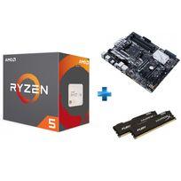 Processeur Ryzen 5 1600X + Carte mère PRIME X370-PRO Ryzen - Socket AM4 + HyperX Fury 16 Go 2 x 8 Go DDR4 2133 MHz Cas 14