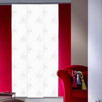 Madecostore - Panneau japonais tamisant motif épi dévoré blanc 45x260cm Arigato