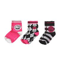 Monster High - Lot de 3 paires de chaussettes Monster H
