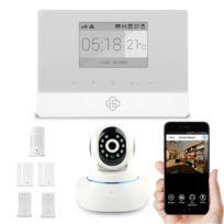 SecuriteGOODdeal - Kit alarme maison sans fil Appure et caméra ip
