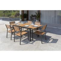Table jardin eucalyptus - catalogue 2019 - [RueDuCommerce - Carrefour]