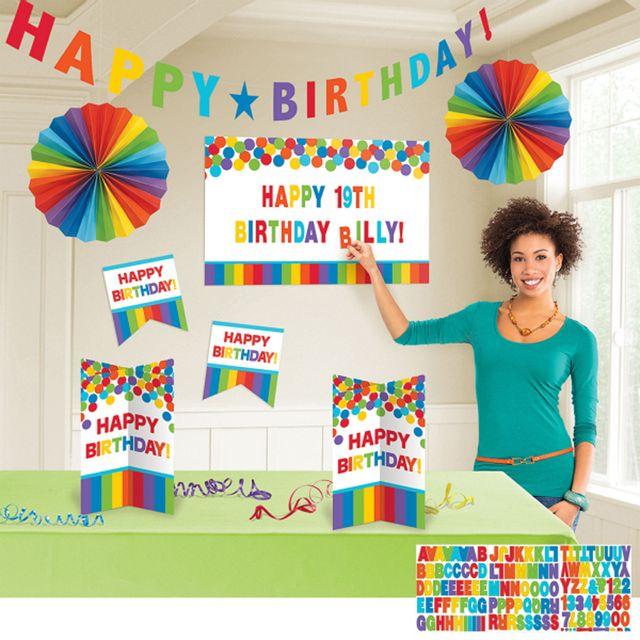 Amscan - Kit décoration de table Anniversaire - Rainbow