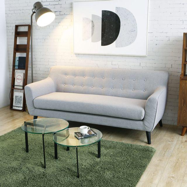 Concept Usine Lysvik 3p : Canapé scandinave 3 places gris clair