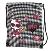 Hello Kitty - by camomilla - Sac 29.5 x 24.5 cm Vichy noir blanc - fashion victim