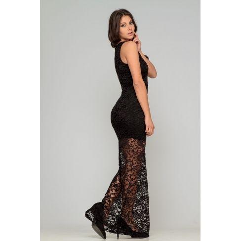 4a493eba01032 Princesse Boutique - Robe de soirée noire à dentelle - pas cher ...