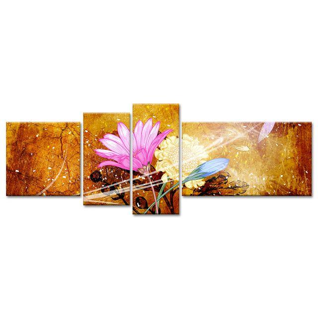 Declina   Achat Tableau Fleurs Vintage   Décoration Murale Contemporaine