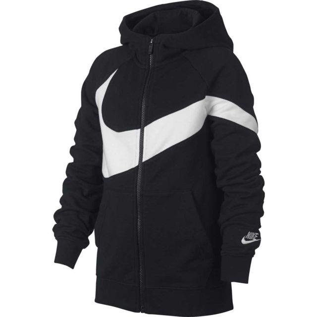 the cheapest info for store Nike - Sweat à capuche Ft Stmt Junior - Bv0789-010 - pas ...