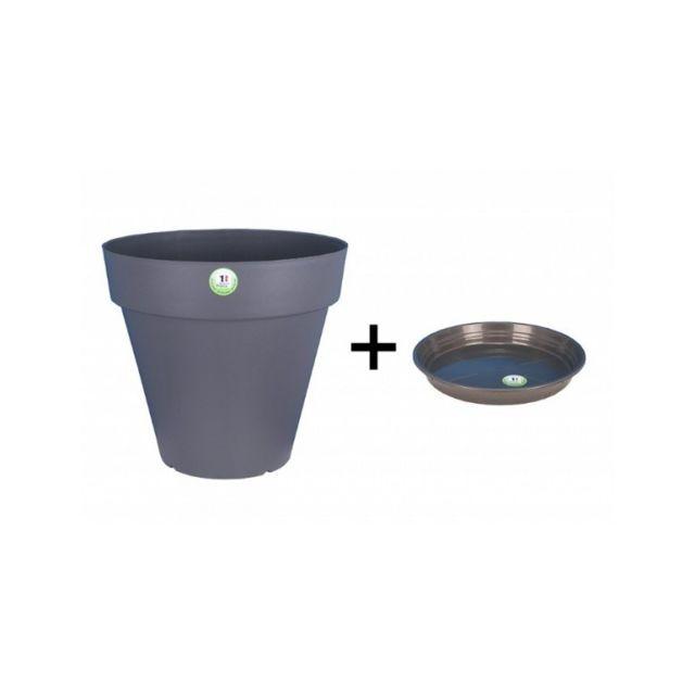 Riviera & Bar Pot et Soucoupe Soleilla diametre 70cm H66cm gris - Riviera