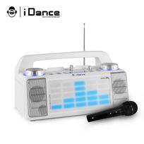 Idance - Enceinte Karaoke mobile 50W à Led Aux/FM/USB/FADER/MIXER/BT + Microphone noir