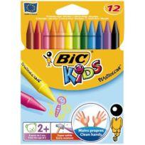 Bic Kids - crayon de couleur plastidecor forme ronde - pochette de 12