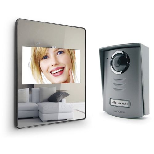 avidsen interphone vid o extra plat effet miroir pas cher achat vente portier et. Black Bedroom Furniture Sets. Home Design Ideas