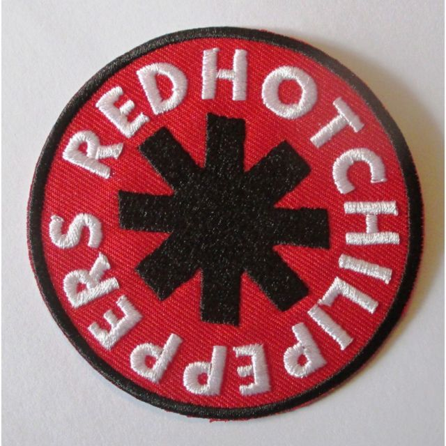 Universel - Patch groupe red hot chili pepers rond rouge écusson veste  blouson huile f06c4d21473