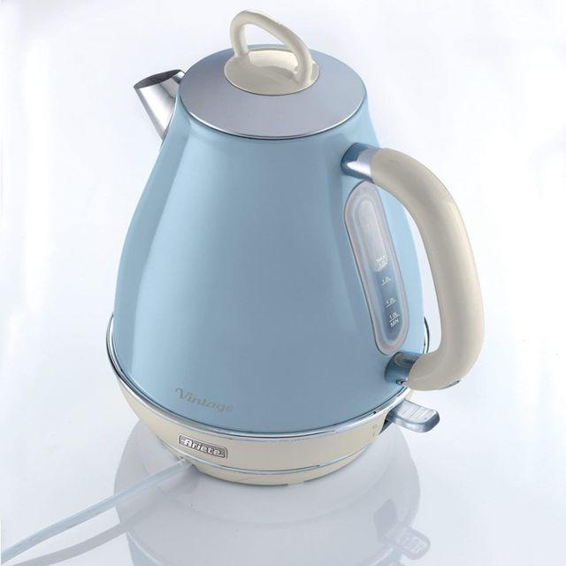 Ariete bouilloire électrique de 1,7L sans fil vintage 2000W bleu