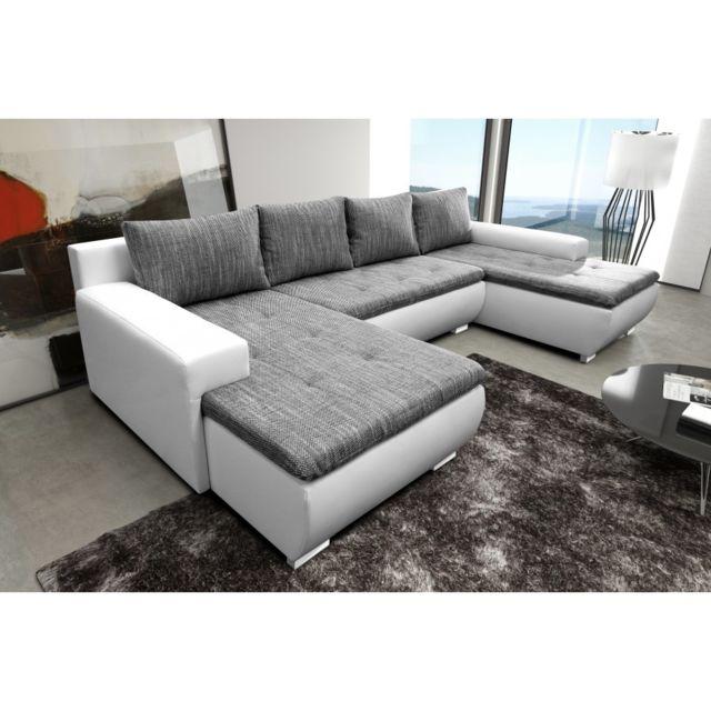 rocambolesk canap picolo gris blanc sofa divan 178cm x 320cm x 87cm achat vente canap s pas. Black Bedroom Furniture Sets. Home Design Ideas