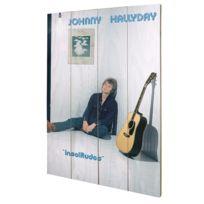 Johnny Halliday - Plaque décorative Insolitudes en bois Johnny Hallyday