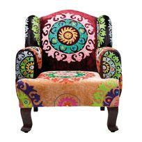 Karedesign Fauteuil Patchwork Velvet Kare Design Multicolore Pas - Fauteuil patchwork design