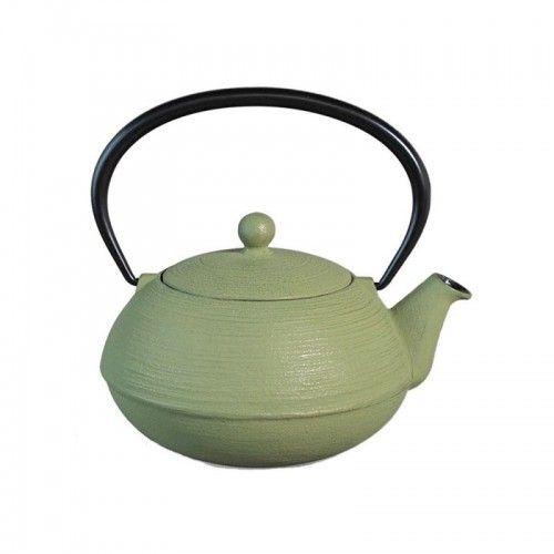 Hildegar De Debingen Théière en fonte japonaise - Ondine - vert d'eau & doré