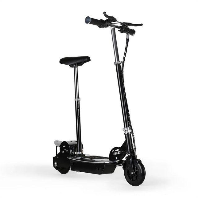 takira trottinette electrique 16 km h scooter acier patinette deux freins pas cher achat. Black Bedroom Furniture Sets. Home Design Ideas