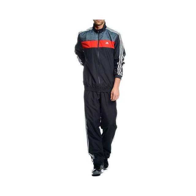 Adidas Survêtement TS TRAIN Noir Entrainement Homme Gris