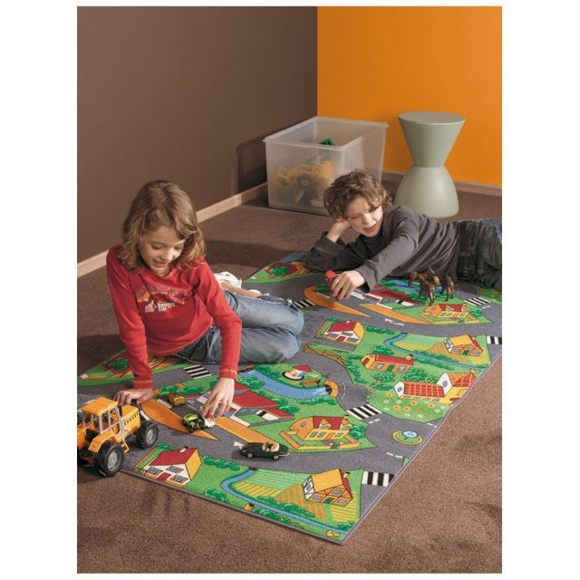 dezenco tapis de salon little village tapis enfants plusieurs dimensions et couleurs. Black Bedroom Furniture Sets. Home Design Ideas