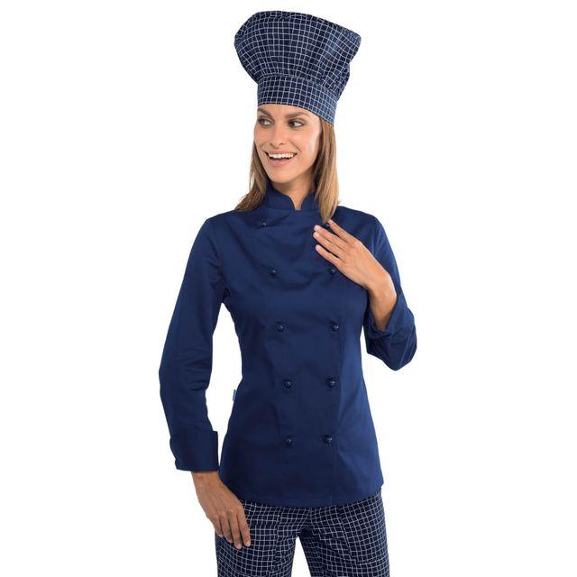 Isacco - Veste cuisine Lady Grand chef bleue