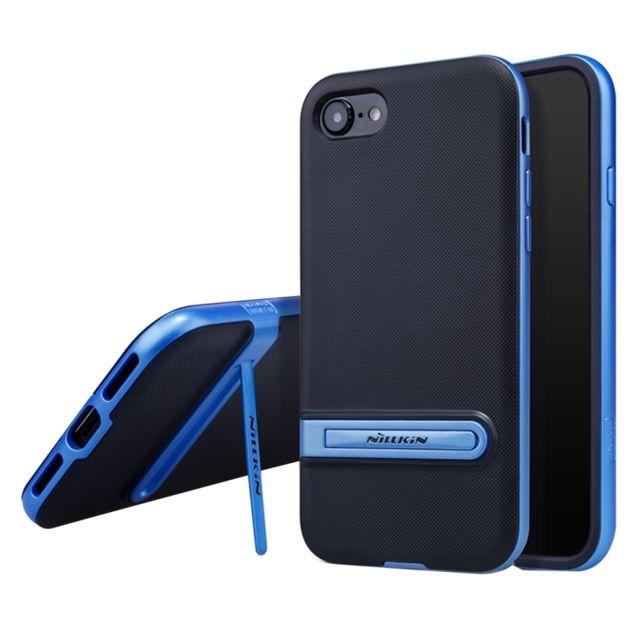 Wewoo Coque Renforc E Bleu Pour IPhone 8 7 Concis Style Emboss