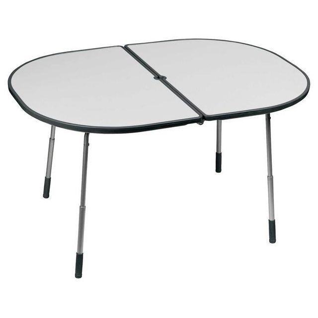 Lafuma Table pique nique pliante hauteur réglable Acier / plateau Stratifié Hawai - Carbon