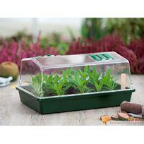 Nature - Mini-serre de culture en plastique soufflé avec aérateurs 37,5cm