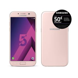 samsung galaxy a5 2017 rose pas cher achat vente smartphone classique android rueducommerce. Black Bedroom Furniture Sets. Home Design Ideas