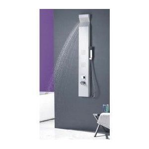 desineo colonne de douche baln o en aluminium blanc. Black Bedroom Furniture Sets. Home Design Ideas